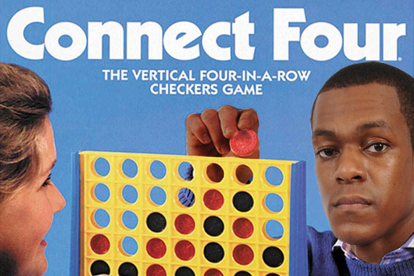 Rajon Rondo Shows off His Connect Four Skills