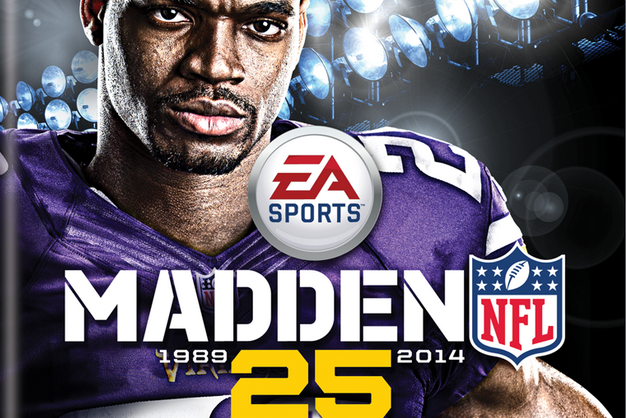 Adrian Peterson Featured on Cover of Madden NFL 25 for XBOX ONE and PS4