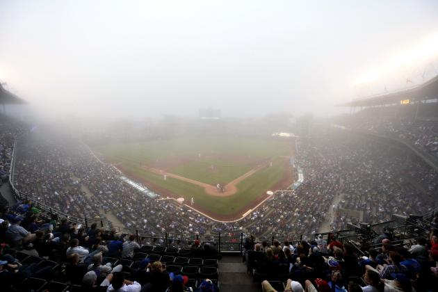 Foggy Scene at Wrigley Field Not Even Close to Describing Game Conditions