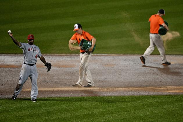 Were Umpires Negligent in Not Stopping Angels-O's Game Despite Obvious Monsoon?