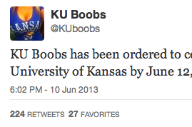 Racy KU Twitter Account Sent Cease and Desist Letter by School