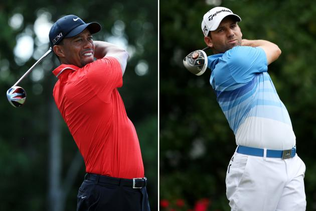 Tiger Woods and Sergio Garcia Meet for First Time Since 'Fried Chicken' Remarks