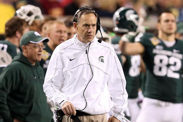 Michigan State's Mark Dantonio Praises Assistants Jim Bollman, Rob Burton
