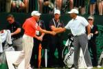 Tiger & Sergio Share Moment at US Open Practice