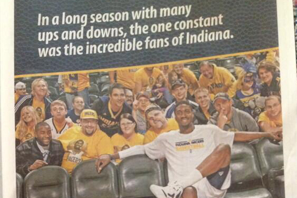 Roy Hibbert Thanks Indiana Pacers Fans in Full-Page Newspaper Ad