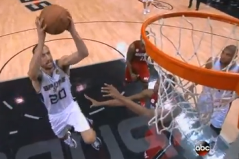 Video: Manu Ginobili Drive and Two-Hand Dunk in Game 3