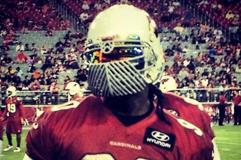 Darnell Dockett Unveils Terrifying New Facemask and Visor Combo