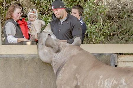 Alex Boone to Have Rhino Named After Him