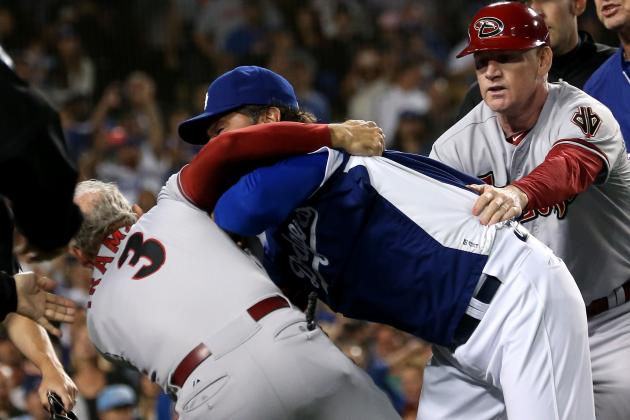 Dodgers and D-Backs Have Massive Brawl