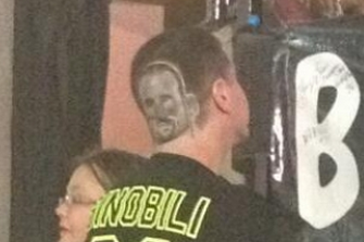 Spurs Fan Has Insane Ginobili Haircut
