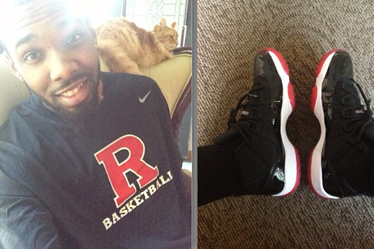 J.J. Moore Shows off New Look in Rutgers Gear