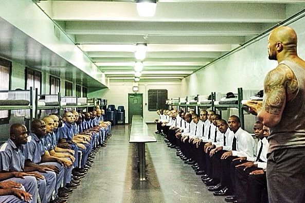 The Rock Visits Convicts in Jail