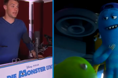 Video: Neuer Stars in German Version of 'Monsters Inc.'