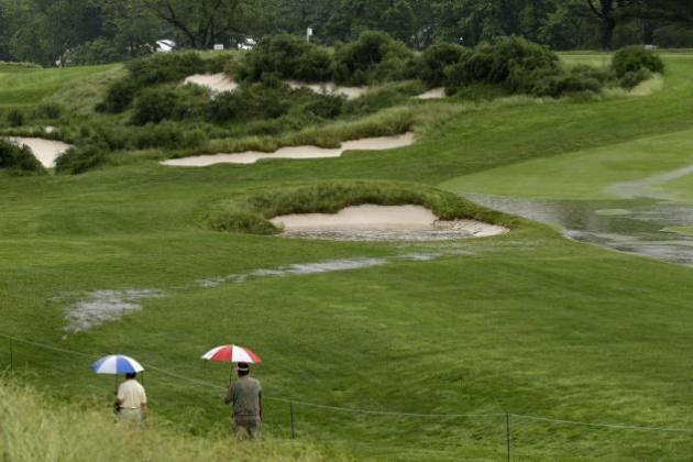 Play Suspended at US Open Due to Rain