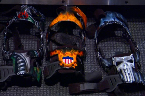 Tim Duncan's Custom-Painted Knee Braces Are Built for Intimidation