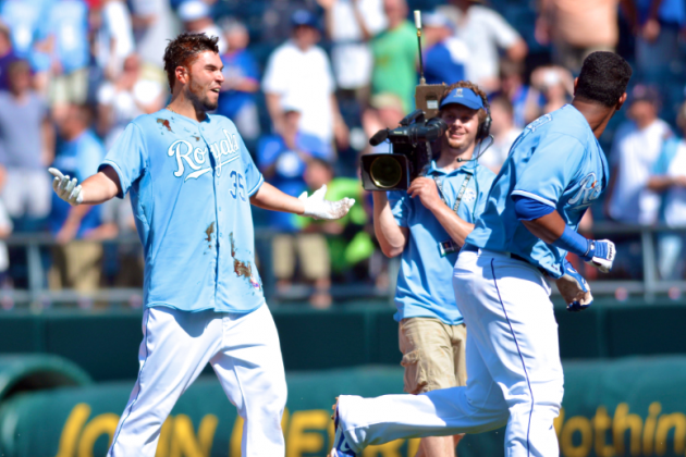 Hosmer Doused with BBQ After Walk-Off