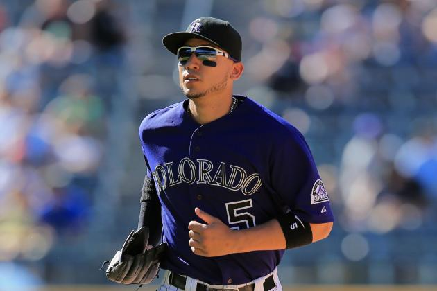Rockies' Gonzalez Hit by Foul Ball, Removed from Game vs. Nationals