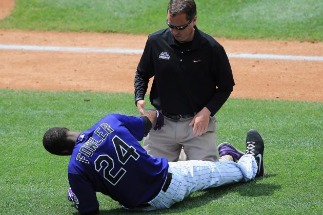 CarGo, Fowler Leave with Injuries, Rockies Lose to Nationals 5-4