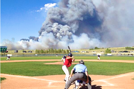 Wildfire Can't Stop HS Baseball Game
