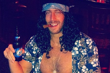 Eagles' LB Dan Barwin in a Lt. Dan Costume