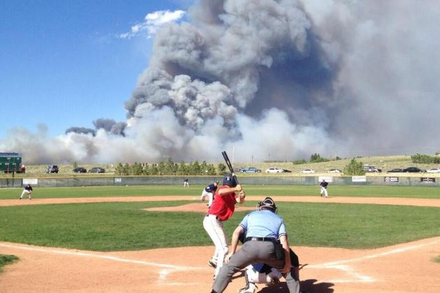 Amazing Image of Baseball Played Amid Terrifying Colorado Wildfire Surfaces
