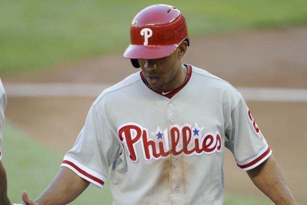 Phils Crush 16 Hits, Revere Ties Career-High in Hits