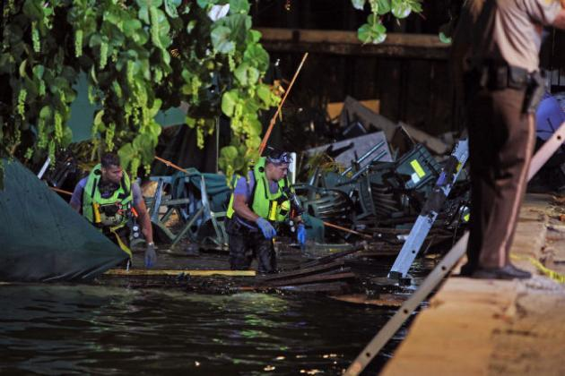 Miami Bar Deck Collapses During Game 4 of 2013 NBA Finals