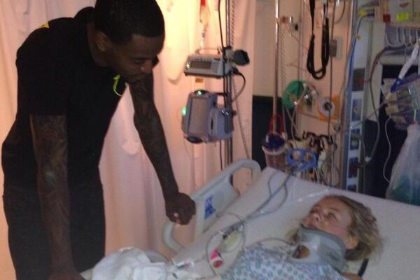 Kevin Ware Surprises 14-Year-Old Car Accident Victim with Hospital Visit