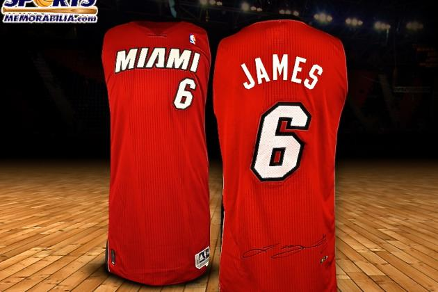 Win a Signed LeBron James Jersey