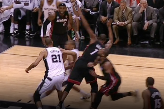 Chris Bosh Fined $5,000 for Flopping in Game 4 of NBA Finals