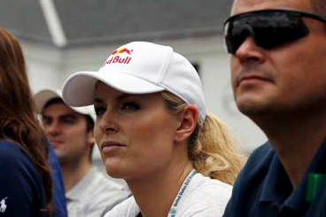 Lindsey Vonn Watches Tiger at US Open