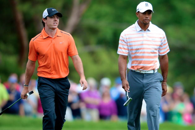 Tiger Woods and Rory McIlroy Side-by-Side on Tough US Open Grind Into Weekend