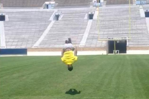 Mckenzie Visits ND, Gets Offer, Posts Photo of Himself Backflipping