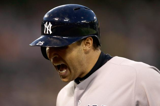 Mark Teixeira Leaves in 4th, David Adams Replaces
