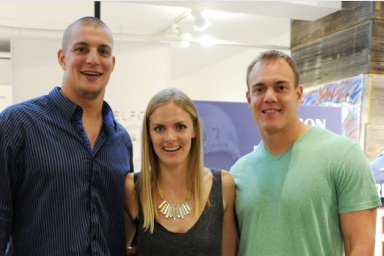 The Gronks Attend HUDSON X Bloomingdales In-Store Event