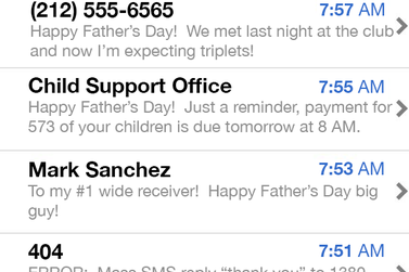 Antonio Cromartie's Father's Day Text Messages Seem Legit