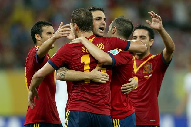 Confederations Cup 2014: Player Ratings from Spain 2-1 Uruguay