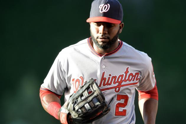 Denard Span Fouls Ball off Right Foot Again