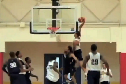 Aaron Gordon Catches the Nasty Alley Oop at USA Basketball Practice