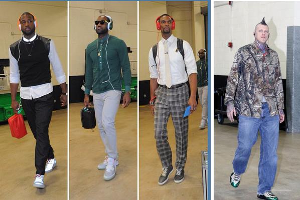 Birdman Upsets LeBron, Wade in Heat Fashion Battle