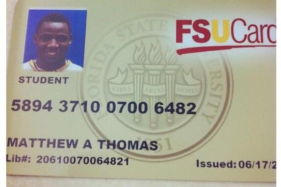 5-Star Thomas Posts Pic of FSU ID Card