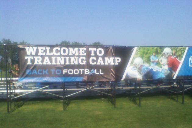 Preparing for the 2013 Detroit Lions Training Camp: First in a Series