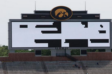 Photo: Iowa Tests out New Video Board for Kinnick Stadium