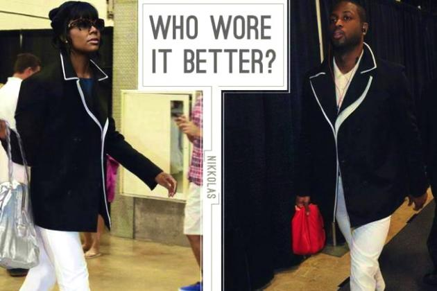 D-Wade Gets Fashion Advice from Gabrielle