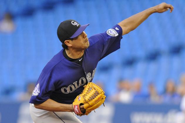 Rockies Fall 2-0 to Blue Jays Despite De La Rosa's Gem
