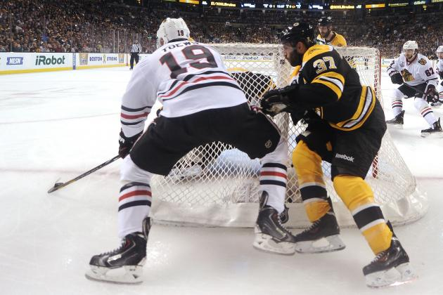Bergeron Winning the Battle Against Toews