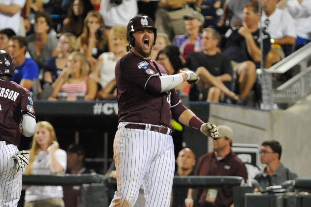 Mississippi State's Rea Quickly Becoming the Face of the College World Series