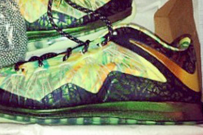 LeBron's Nike X Low Floral Shoe Says Two-Time Champion