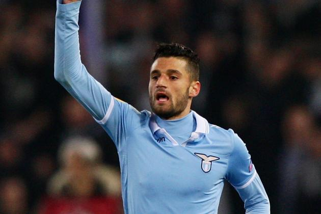Lazio Purchase Half of Midfielder Antonio Candreva's Playing Rights