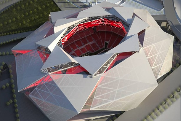 Instagram: Bird's Eye View of Approved New Falcons Stadium Concept